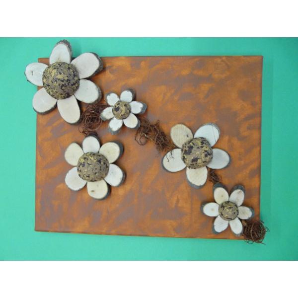 Mit Holz Basteln Ein Keilrahmen Mit Holzblumen Gestalten
