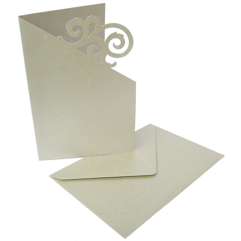 Doppelkarten ornament silber edle karten in silber mit for Edle dekoartikel