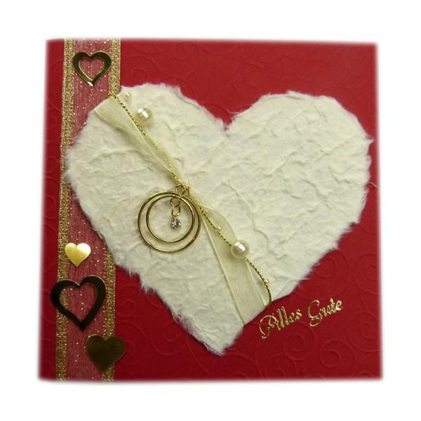 Eine Glückwunschkarte für goldene Hochzeit