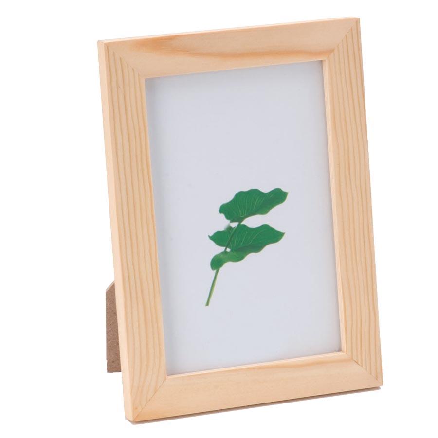 Bilderrahmen aus Holz, 10x15cm   Mit transparenter Glasscheibe
