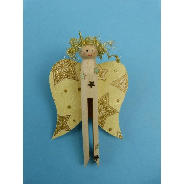 bastelideen weihnachten kinder einen engel mit einer rundkopfklammer basteln die anleitung. Black Bedroom Furniture Sets. Home Design Ideas