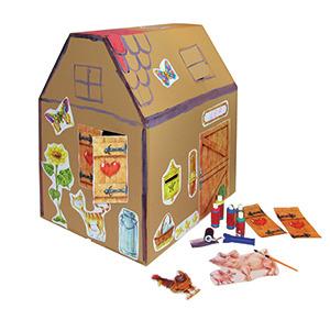 spielhaus aus hochwertigem karton f r kinder gr e 76x60x90 cm. Black Bedroom Furniture Sets. Home Design Ideas