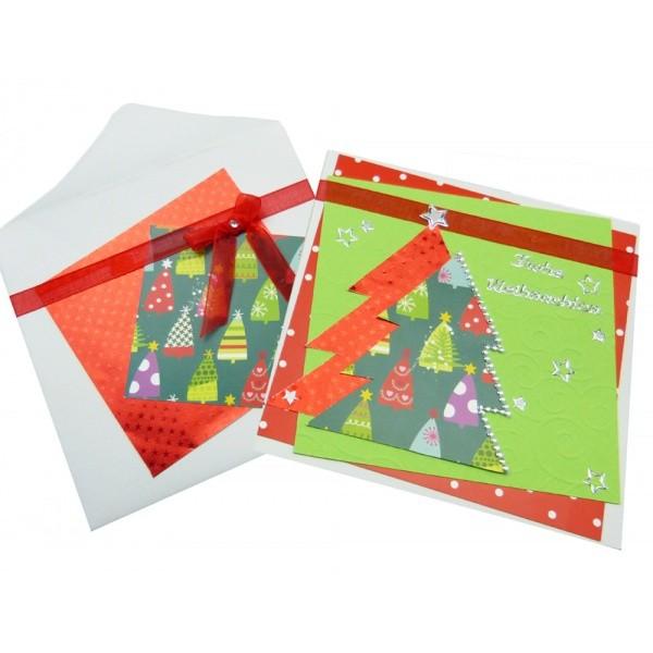 Weihnachtskarte basteln anleitung bei trendmarkt24 - Weihnachtskarten basteln mit kindern ...