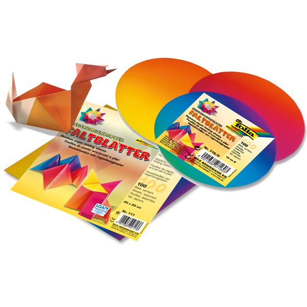 Faltblätter Regenbogenpapier