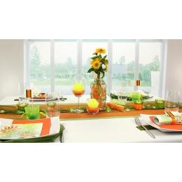 Tischdeko Orange Grun Tischdekorationen Trendmarkt24