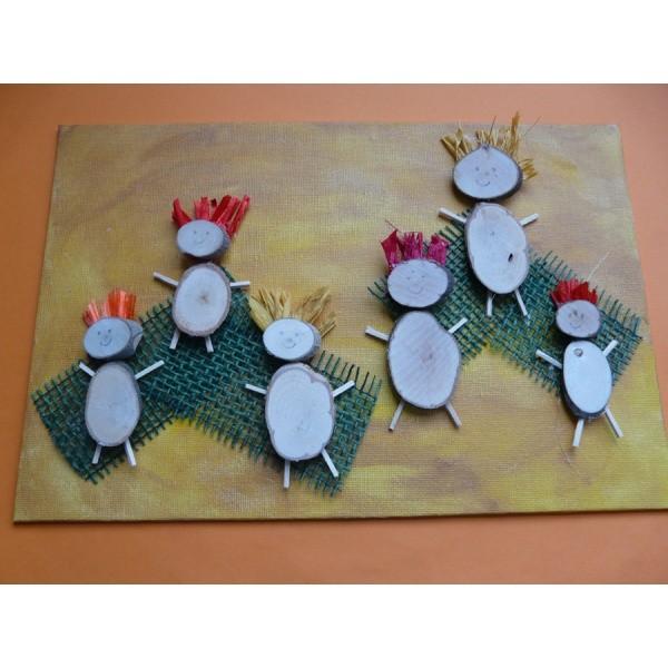 Basteln mit holz f r kinder nette holzm nnchen basteln for Kindergarten weihnachtsbasteln