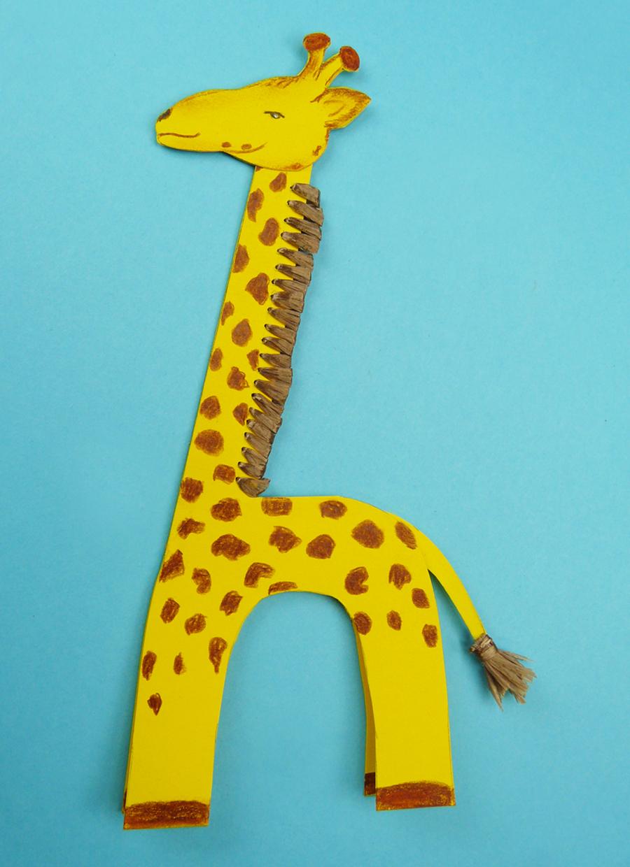 Жираф из бумаги своими руками для детей шаблоны 84