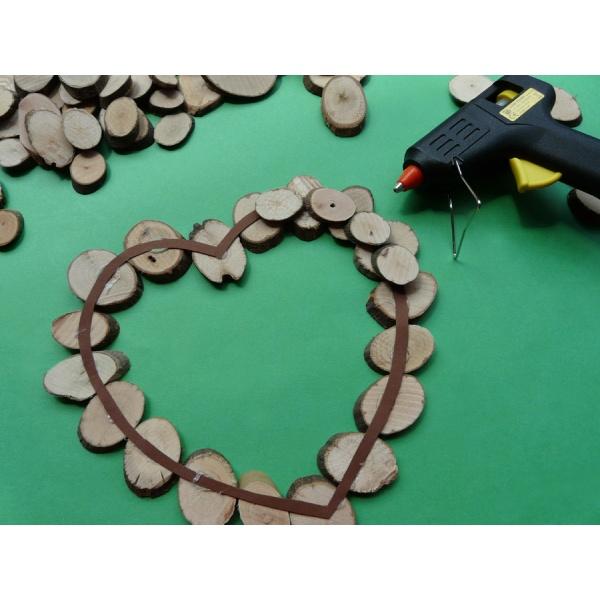Holzscheiben Basteln Ein Besonderes Herz Basteln