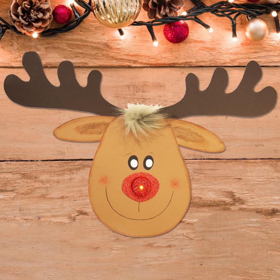 Bastelvorlagen Weihnachten kostenlos | Rentier basteln