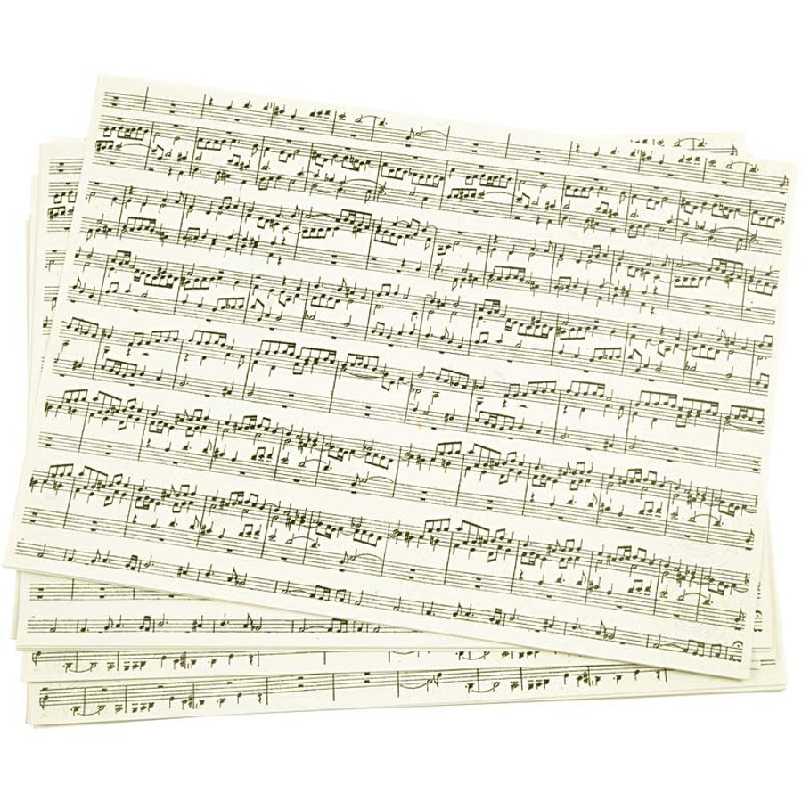 Musiknoten Kraftpapier 21 X 30 Cm Notenpapier