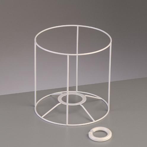lampenschirm gestell rund 15 cm 15 cm wei f r ihr lieblingshobby. Black Bedroom Furniture Sets. Home Design Ideas