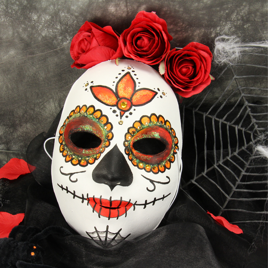 mexikanische totenmaske schminken. Black Bedroom Furniture Sets. Home Design Ideas