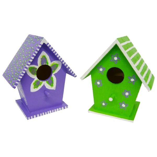 vogelhaus bemalen bastelidee f r kindergeburtstag. Black Bedroom Furniture Sets. Home Design Ideas