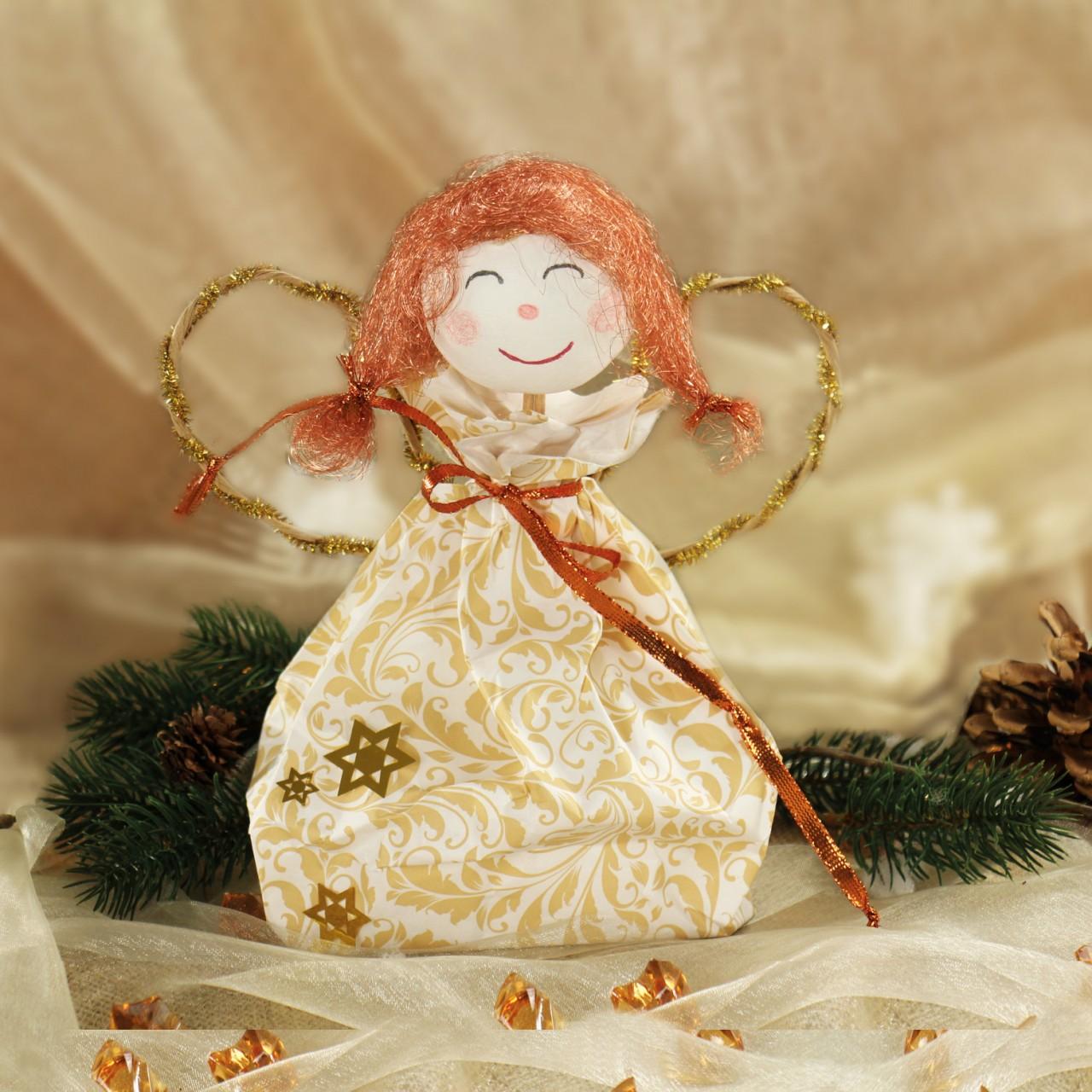 Engel basteln anleitung geschenkidee zu weihnachten - Engel basteln aus naturmaterialien ...
