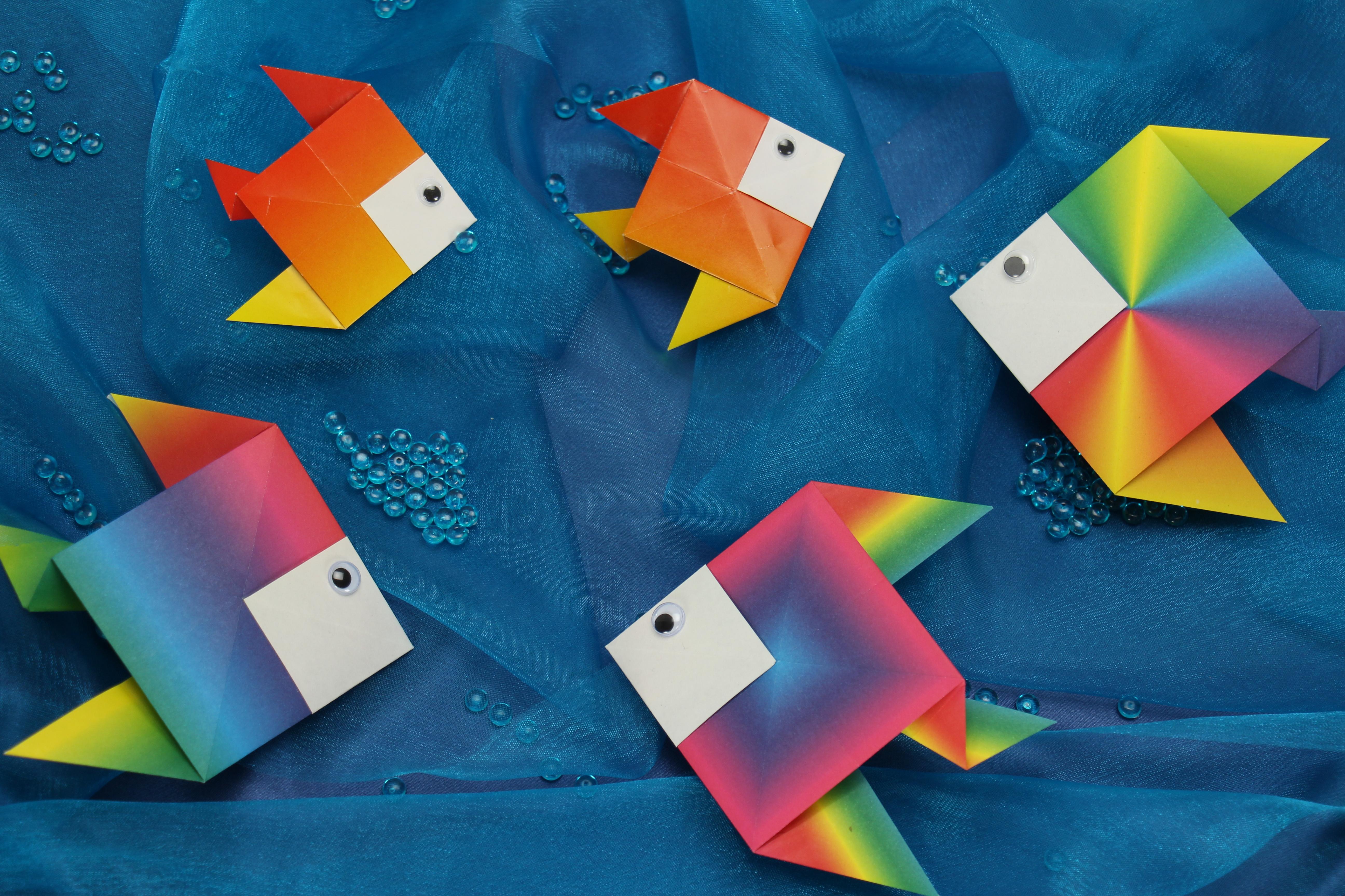 Origami Fisch falten Min Video - trendmarkt24 - photo#14