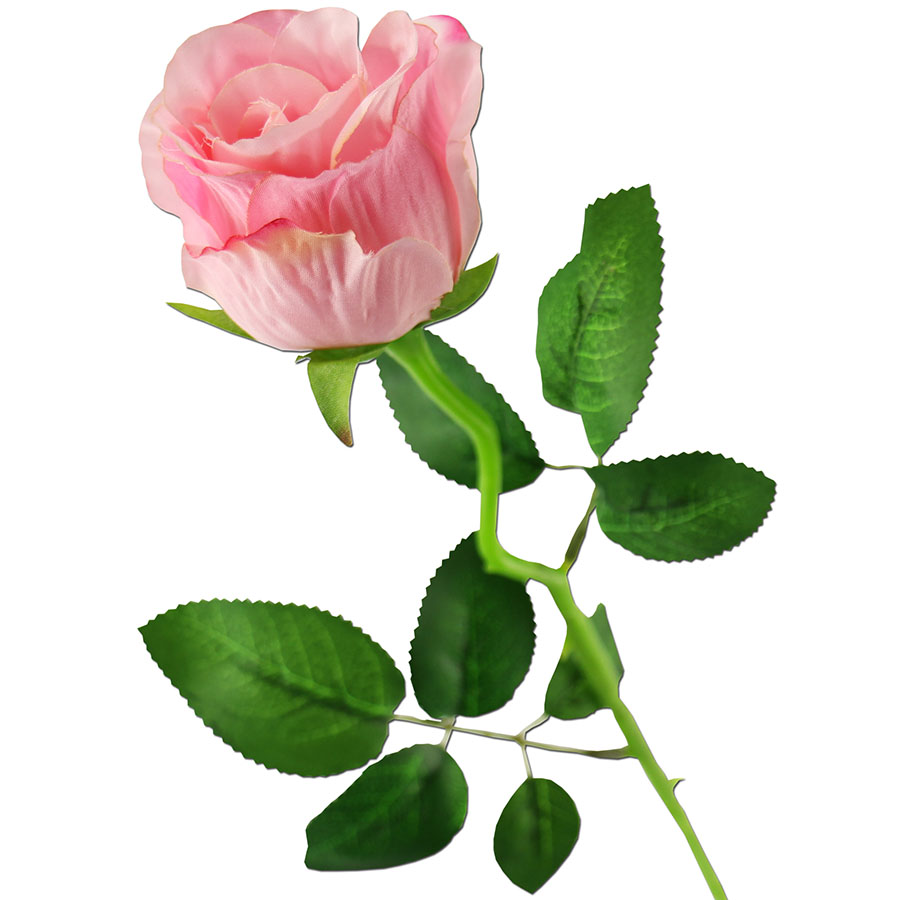 rose rosa Ø 5 cm seidenblume 50 cm lang kunstblume rose