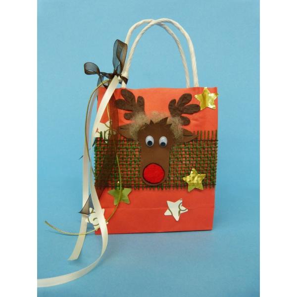 basteln weihnachten eine nette geschenkt te mit elch zum. Black Bedroom Furniture Sets. Home Design Ideas