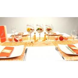 Tischdeko Orange Weiss Fest Tischdekorationen