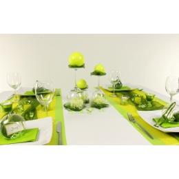Tischdeko Gelb Grun Feier