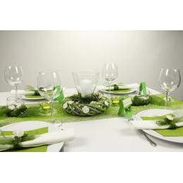 Tischdeko Grun Weiss Tischdekorationen Trendmarkt24