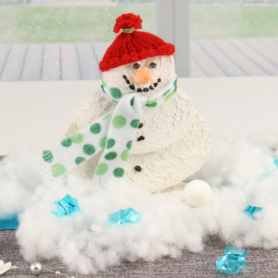 Basteln Schneemann   Holzscheiben Bastelidee Weihnachten