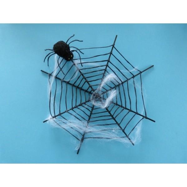 Bastelideen Halloween Netz Mit Spinne Ideal Für Gruselige