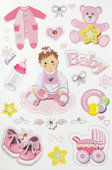 baby sticker mit sch nen motiven. Black Bedroom Furniture Sets. Home Design Ideas