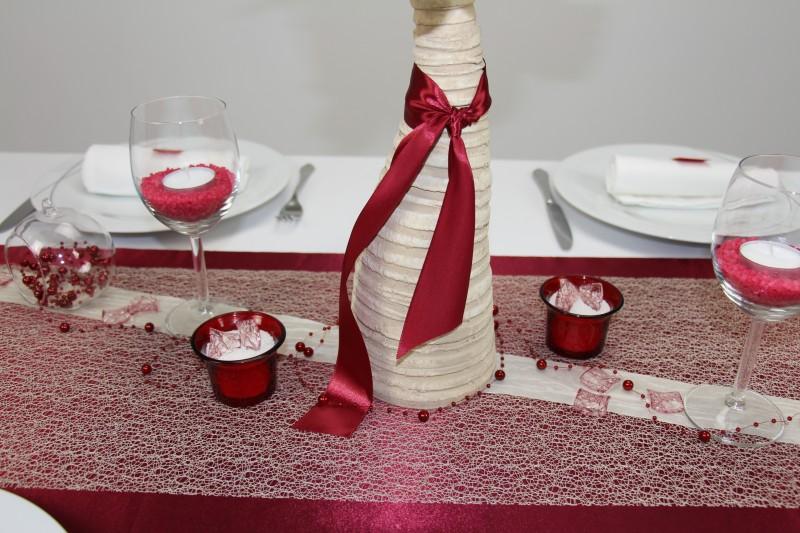 Tischdeko Rot Creme Alltag