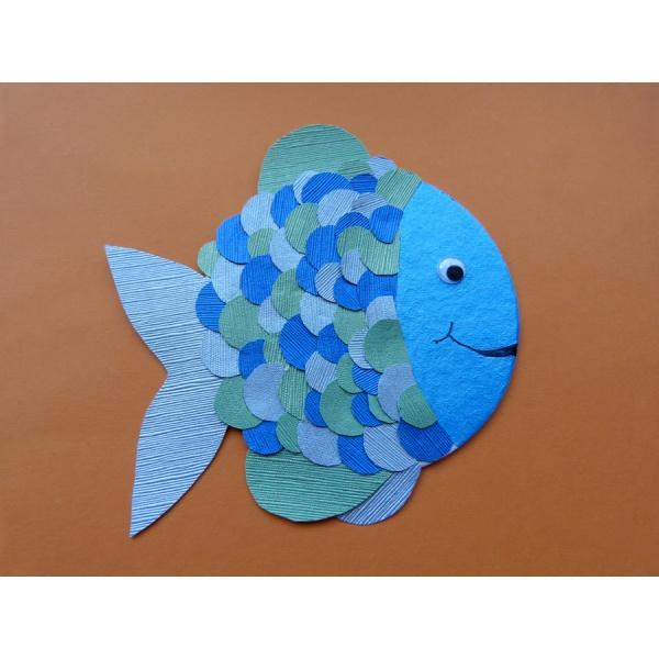 Einen regenbogenfisch mit bierdeckel basteln einfach zum - Fische basteln vorlagen ...
