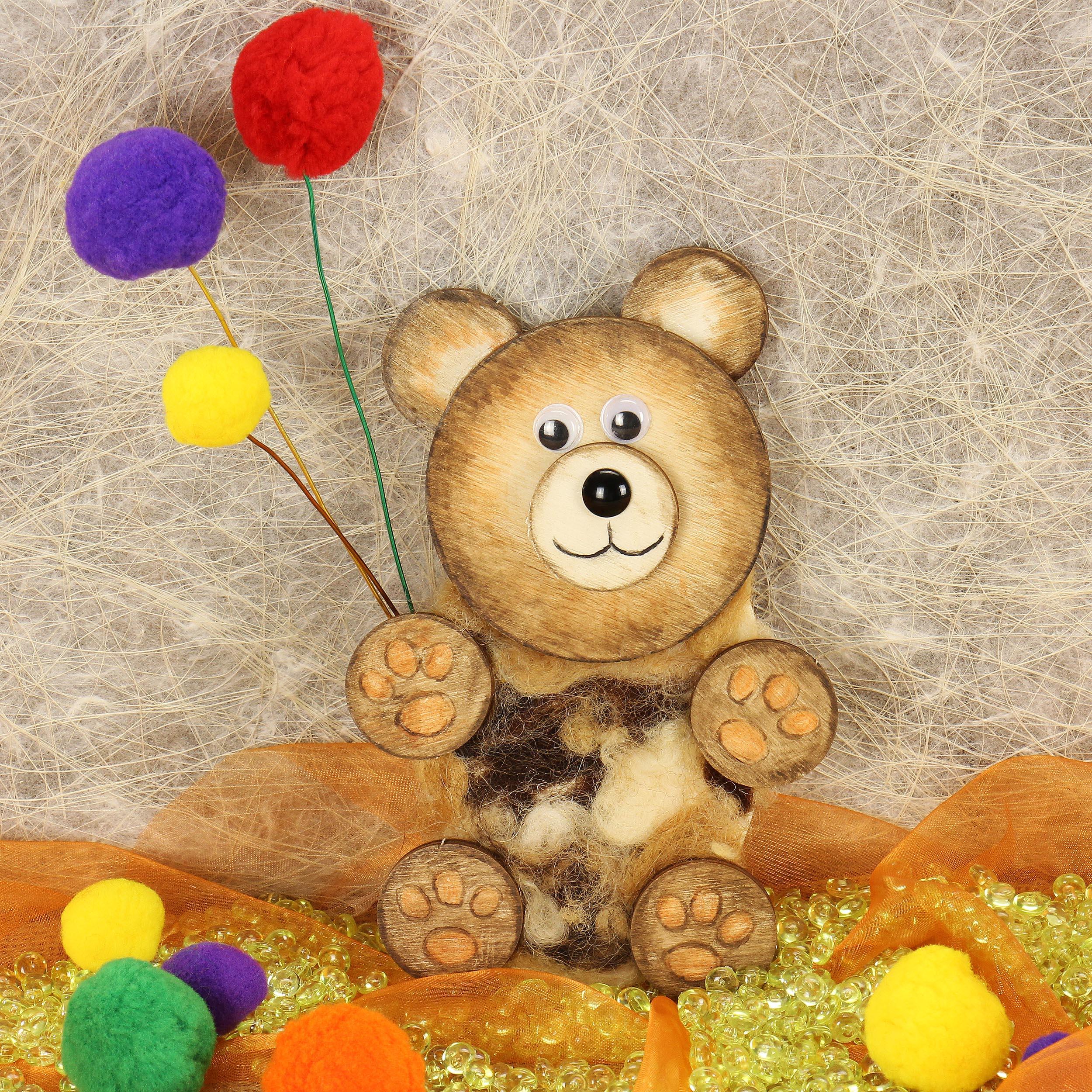 Teddy basteln   Bastelidee von trendmarkt24