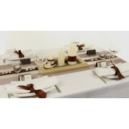 Tischdeko Creme Braun Tischdekorationen Trendmarkt24