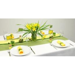 Tischdeko Gelb Grun Tischdekorationen Trendmarkt24