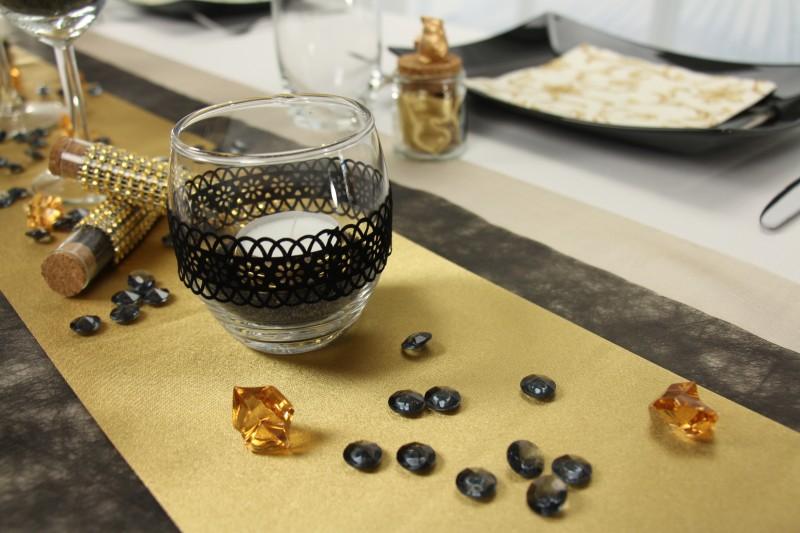 Tischdeko Schwarz Gold Fest Tischdekorationen Tm24