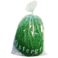 Ostergras 30 g Beutel grün, echte Holzwolle