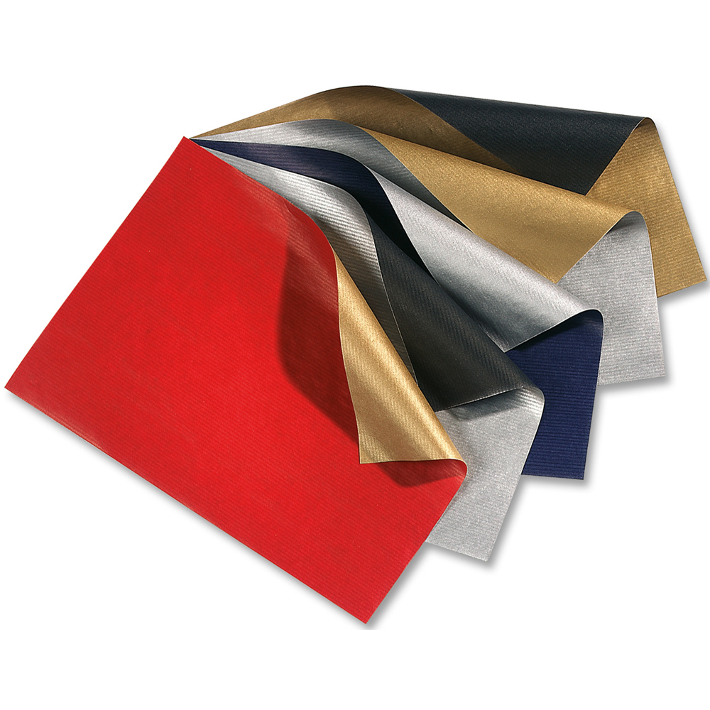 Geschenkpapier Set Weihnachten   Zweifarbig bedruckte Rollen in ...