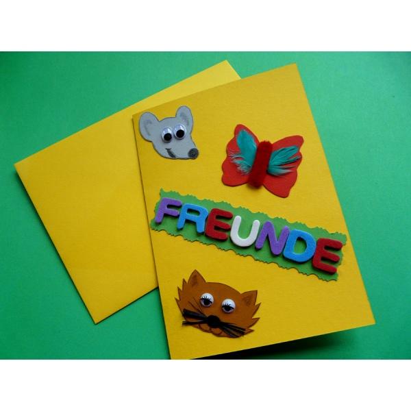 Eine sch ne bastelidee zum thema karten basteln mit kindern - Geburtstagskarte basteln kinder ...