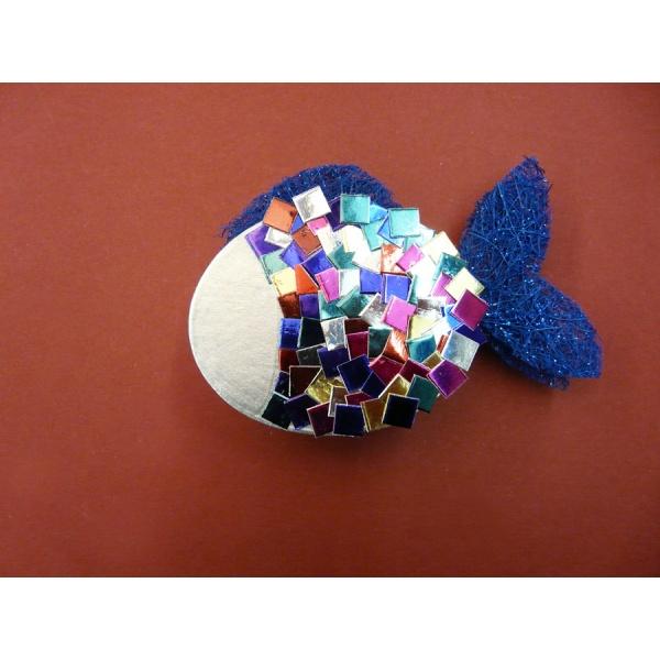 Eine nette bastelidee fische basteln mit alukarton - Fische basteln aus papier ...