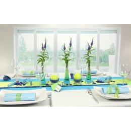 Tischdeko winter grün  Tischdeko blau grün | Tischdekorationen – trendmarkt24
