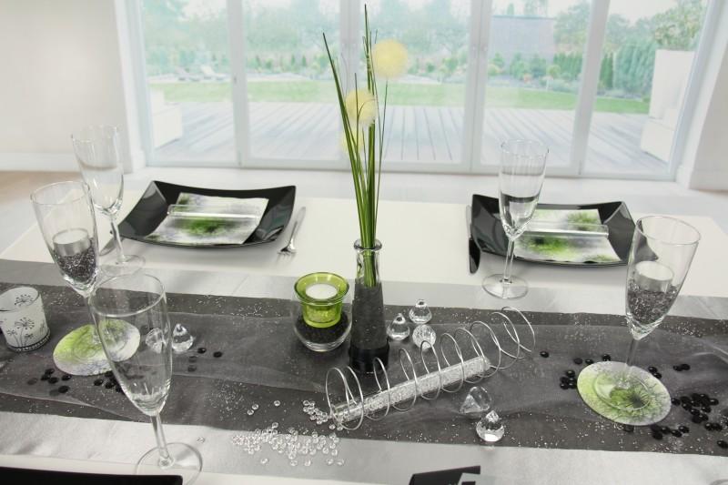 Tischdeko Schwarz Silberfest Tischdekorationen Tm24
