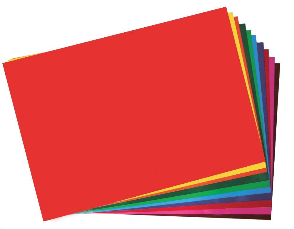 Fensterfolie 15 Blatt Bogen Farbige Transparente //Bastelfolie Wiederverwendbar