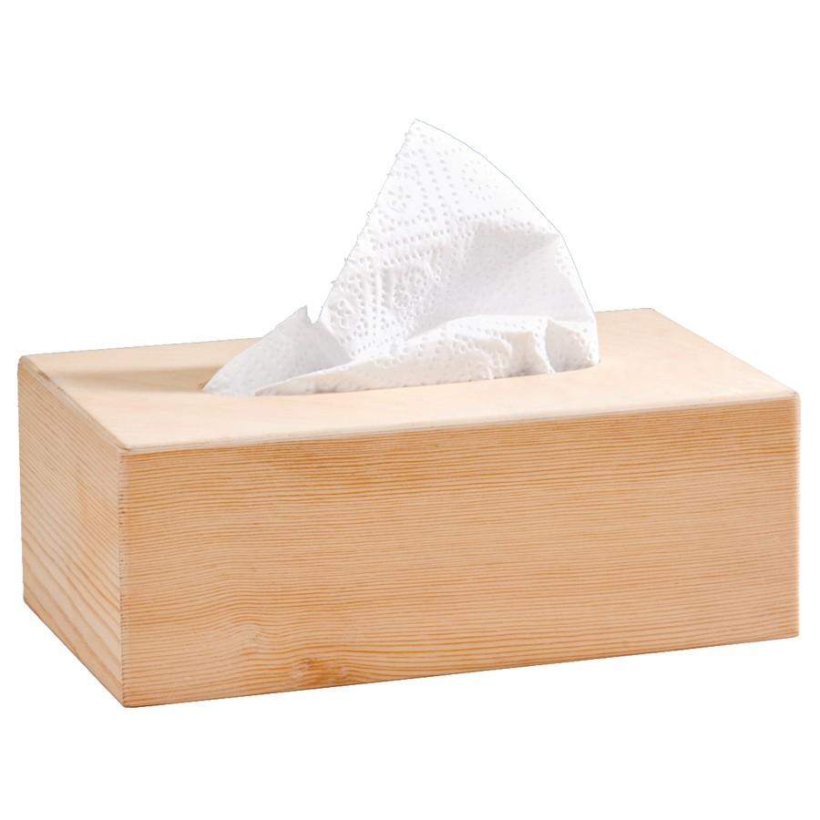 rechteckiger Taschentuchspender Tiklook Rechteckige Kosmetikt/ücherbox mit Holzabdeckung f/ür Standard Seidenpapier und T/ücherboxen