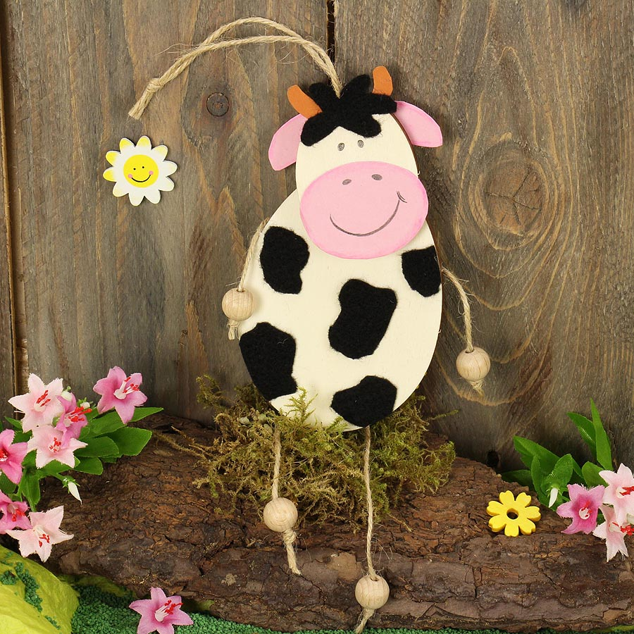 Kuh Basteln Aus Holz Bastelidee Mit Kinder