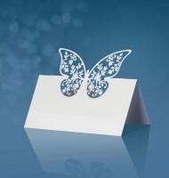 Tischkarten rechteckig mit Schmetterling aus Papier