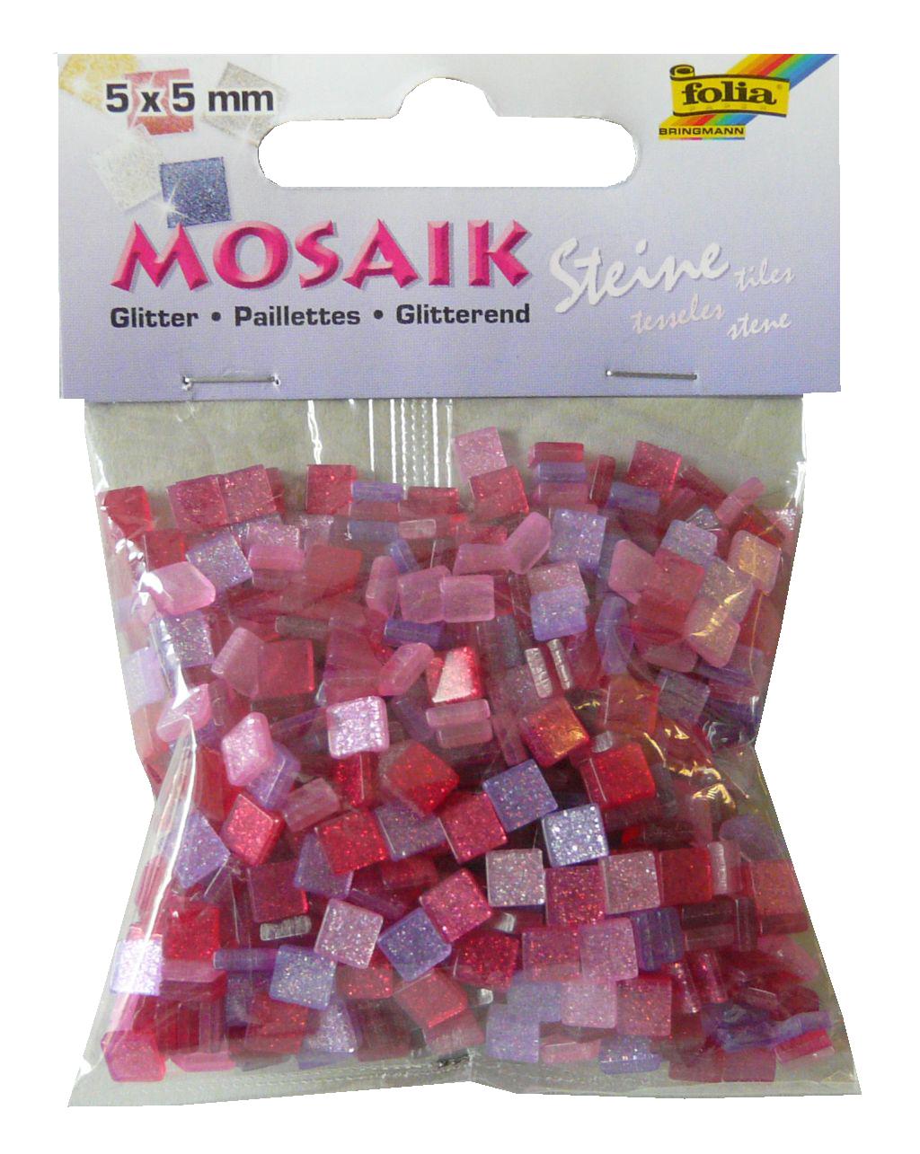 mosaiksteine glitter pink f r edle verzierungen. Black Bedroom Furniture Sets. Home Design Ideas