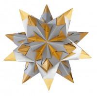 Bascetta Stern, Duo silber/gold, 15x15 cm, 32 Blatt, 75 g m²