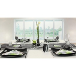 tischdeko schwarz silber tischdekorationen trendmarkt24. Black Bedroom Furniture Sets. Home Design Ideas