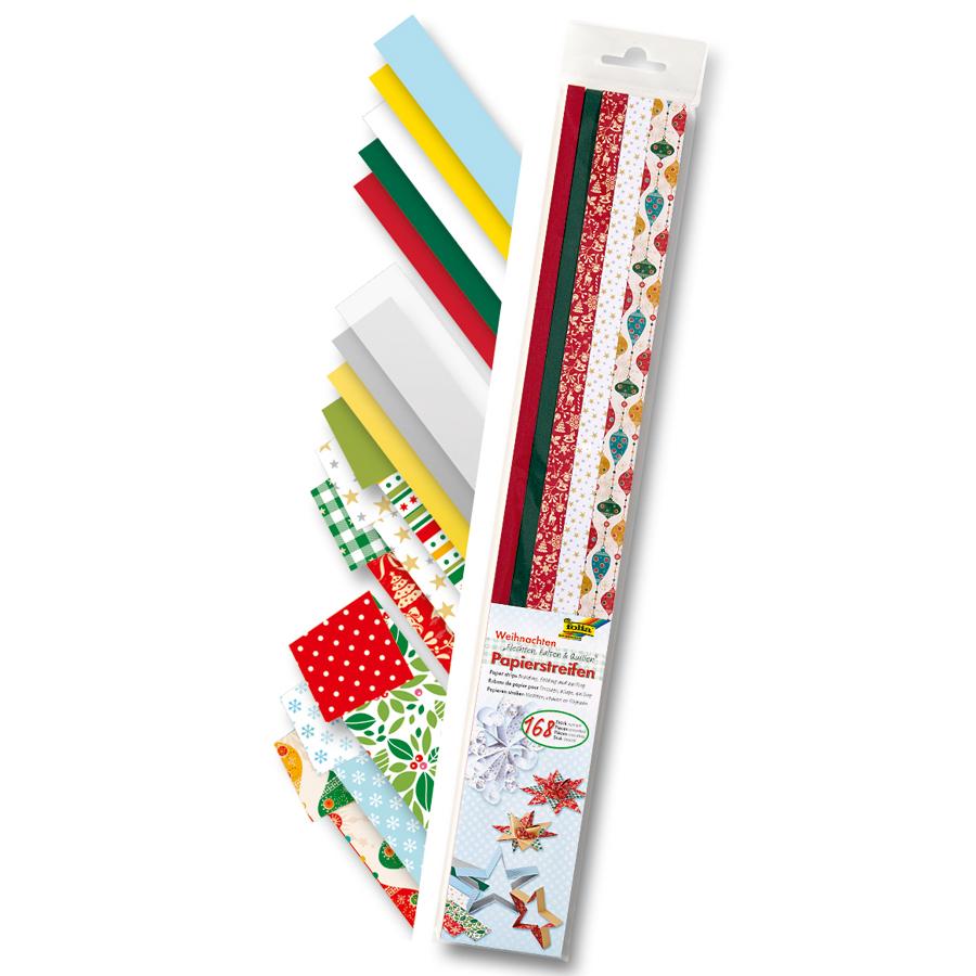 papierstreifen weihnachten 168 streifen mit weihnachtlichen motiven. Black Bedroom Furniture Sets. Home Design Ideas