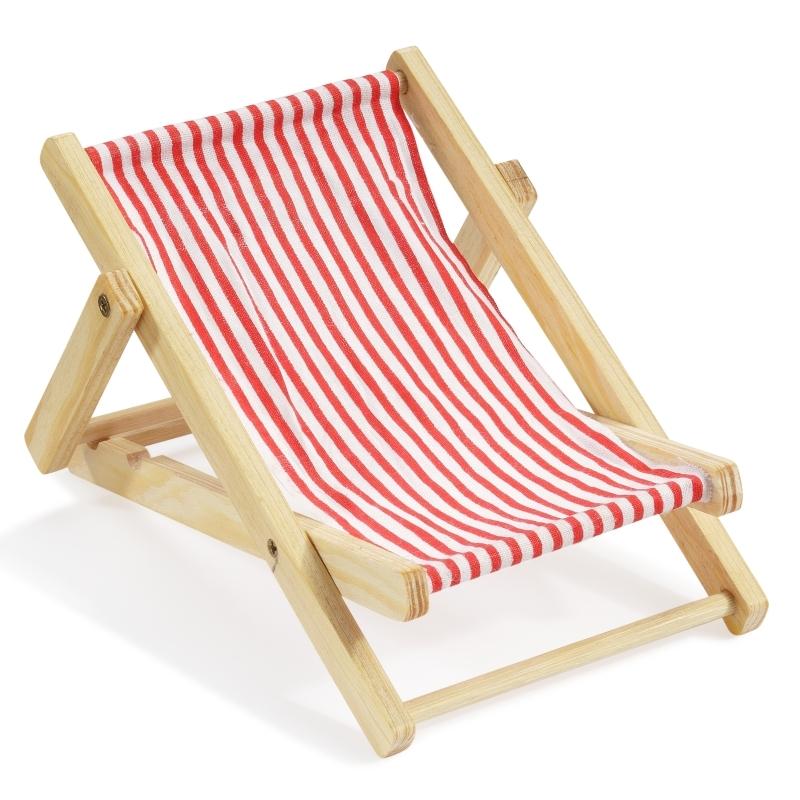 Miniatur Liegestuhl Basteln.Deko Liegestuhl 10 Cm Rot Weiß