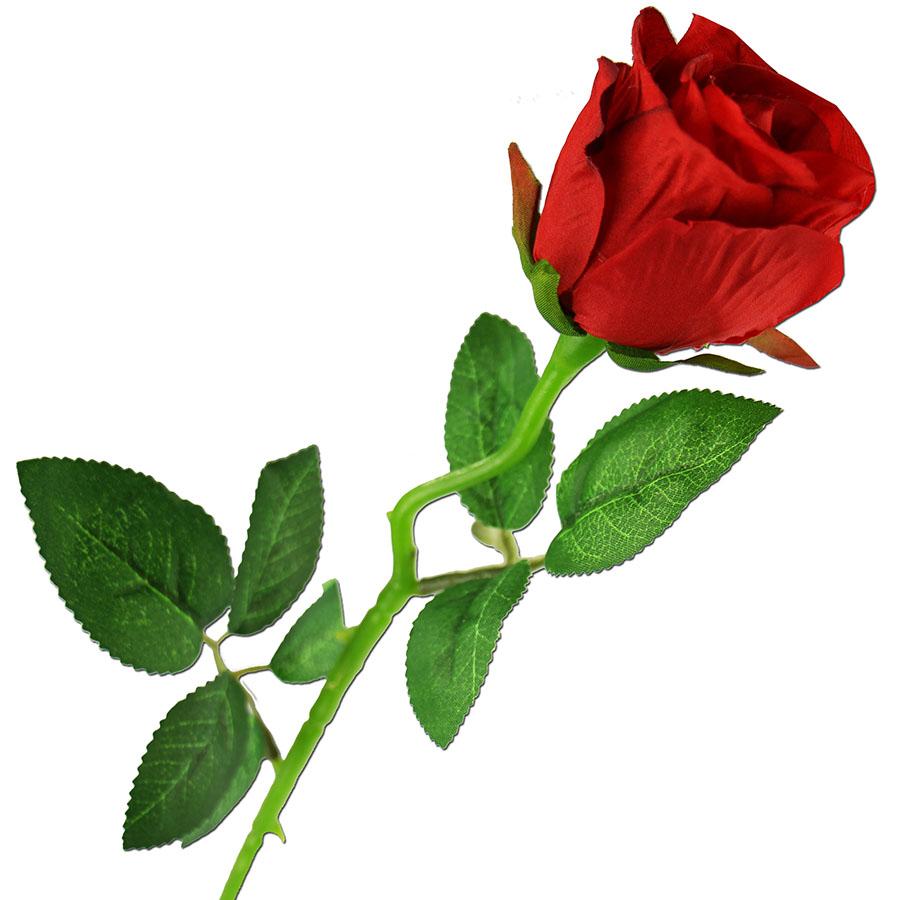 rose rot Ø 5 cm seidenblume 50 cm lang kunstblume rose