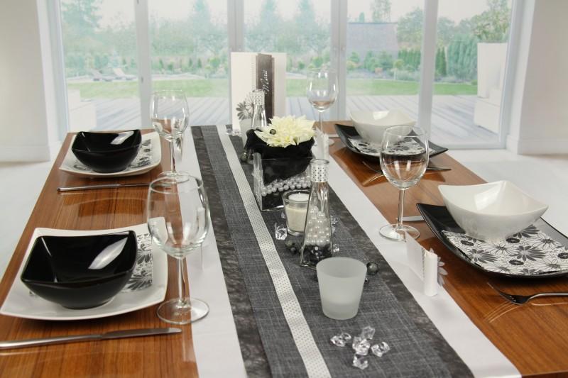 Tischdeko Schwarz Weiss Fest Tischdekorationen Tm24